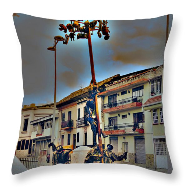 Family Cooperation Throw Pillow by Al Bourassa