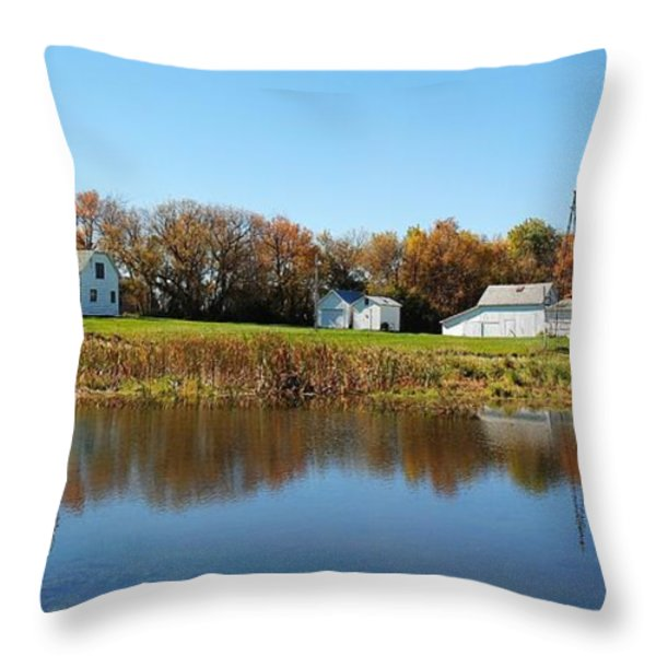 Family farm Throw Pillow by Todd and candice Dailey