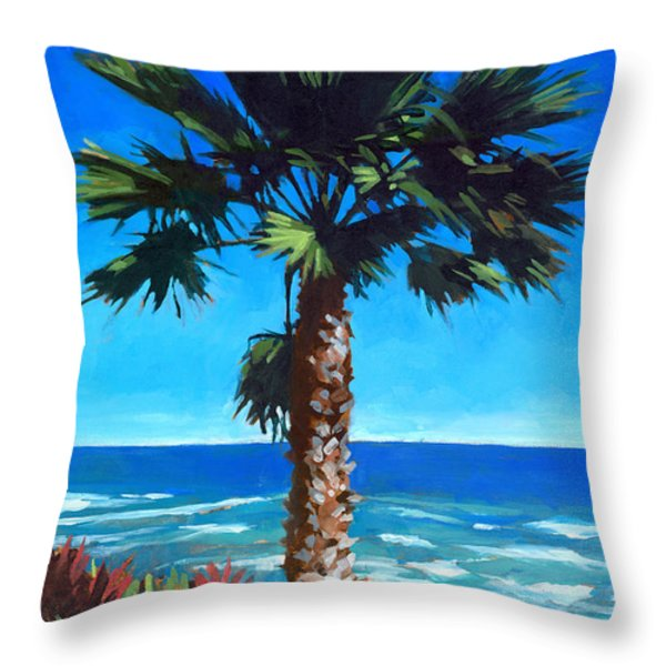 Fan Palm - Diamond Head Throw Pillow by Douglas Simonson