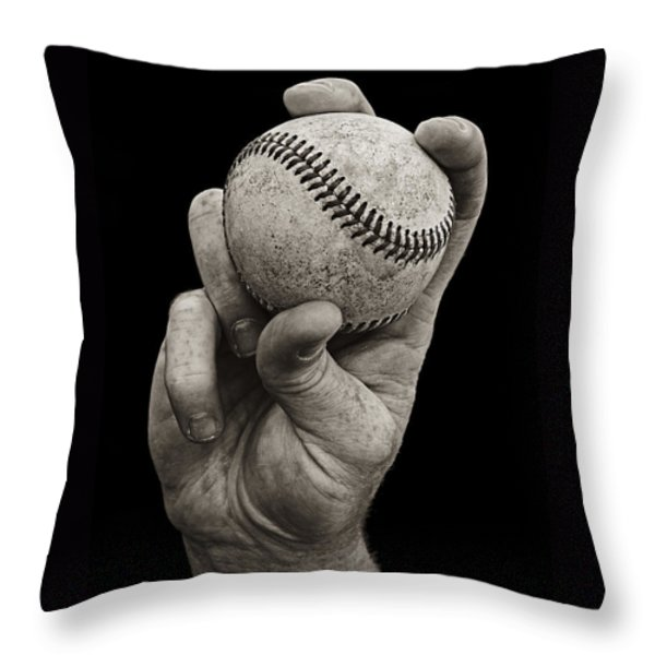 Fastball Throw Pillow by Diane Diederich