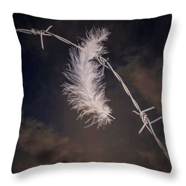Feather Throw Pillow by Joana Kruse