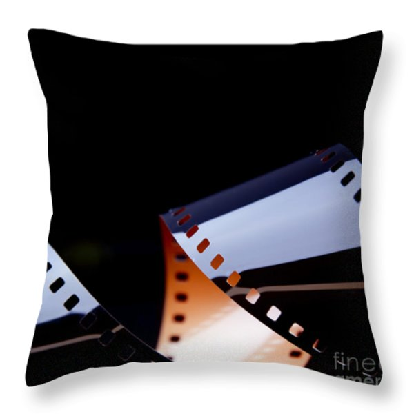 Film Strip Abstract Throw Pillow by Tim Hester