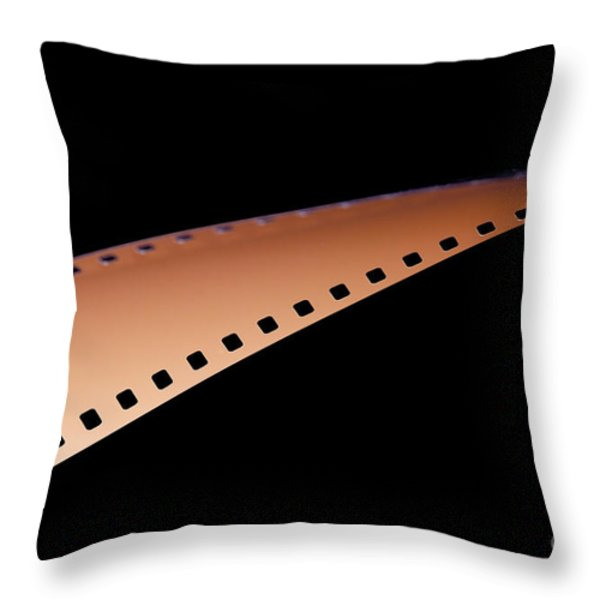 Film Strip Throw Pillow by Tim Hester