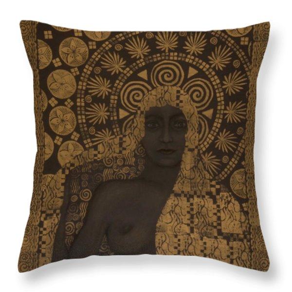 Fin-de-siecle Goddess Throw Pillow by Diana Perfect