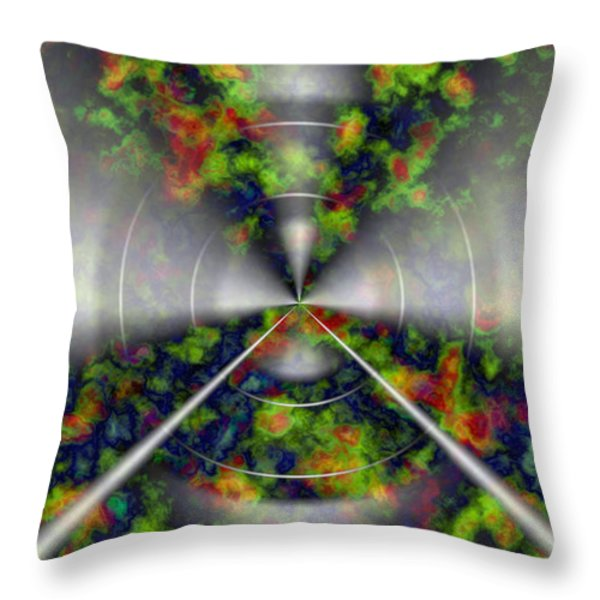 Fire Cloud Throw Pillow by Christopher Gaston