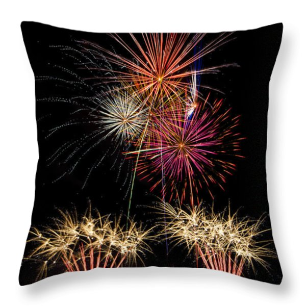 Fireworks  Throw Pillow by Saija  Lehtonen