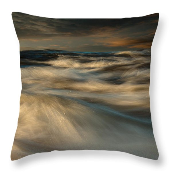 First Light Throw Pillow by Bob Orsillo