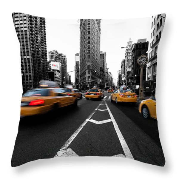 Flatiron Building NYC Throw Pillow by John Farnan