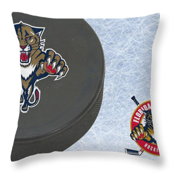 Florida Panthers Throw Pillow by Joe Hamilton