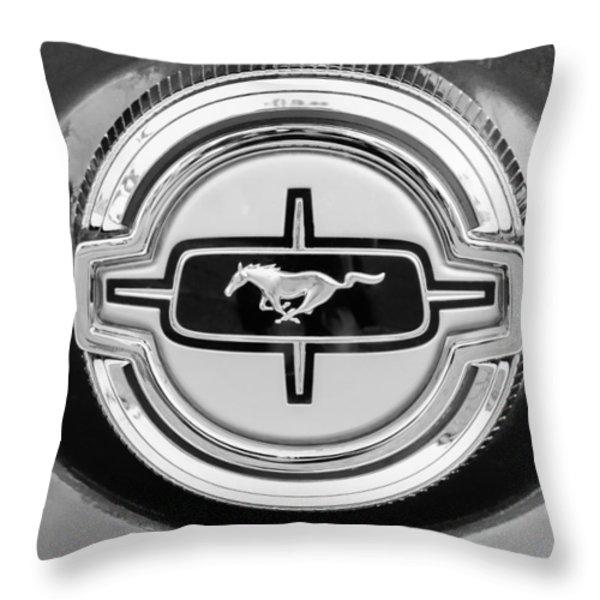 Ford Mustang Gas Cap Throw Pillow by Jill Reger