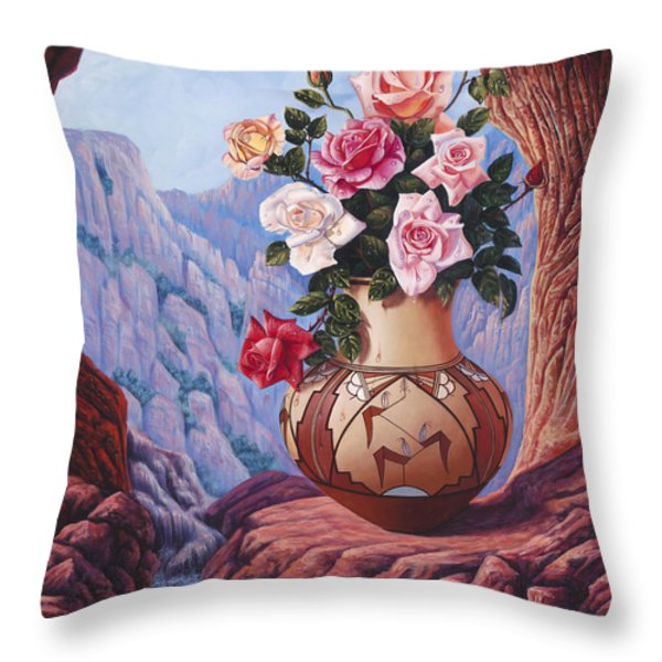 Fragrance and Dew Throw Pillow by Ricardo Chavez-Mendez