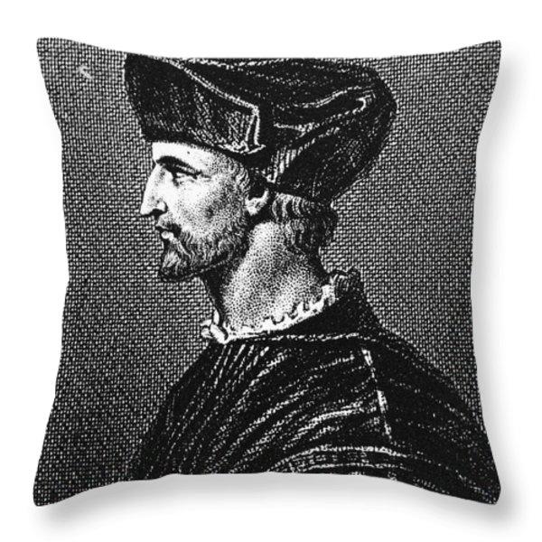 Francois Rabelais Throw Pillow by Granger