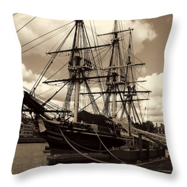 Friendship of Salem Throw Pillow by Lourry Legarde