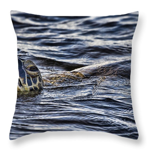 Gasp For Air Throw Pillow by Douglas Barnard