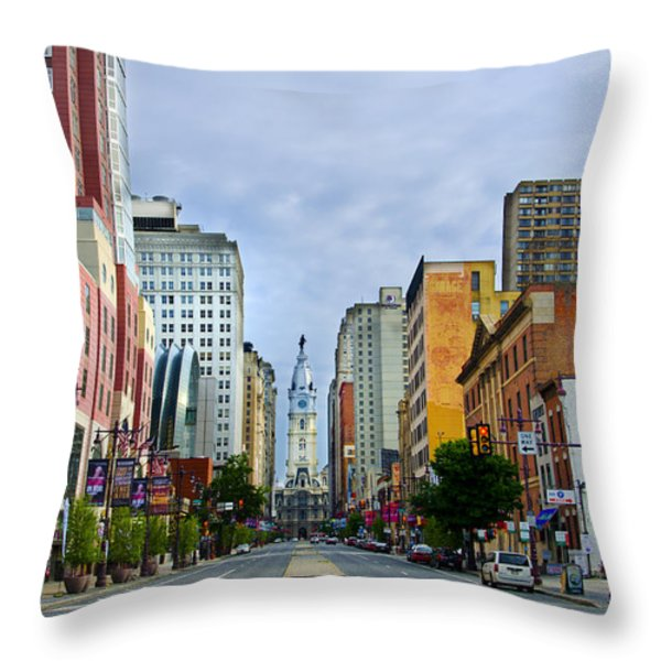 Give My Regards to Broad Street Throw Pillow by Bill Cannon