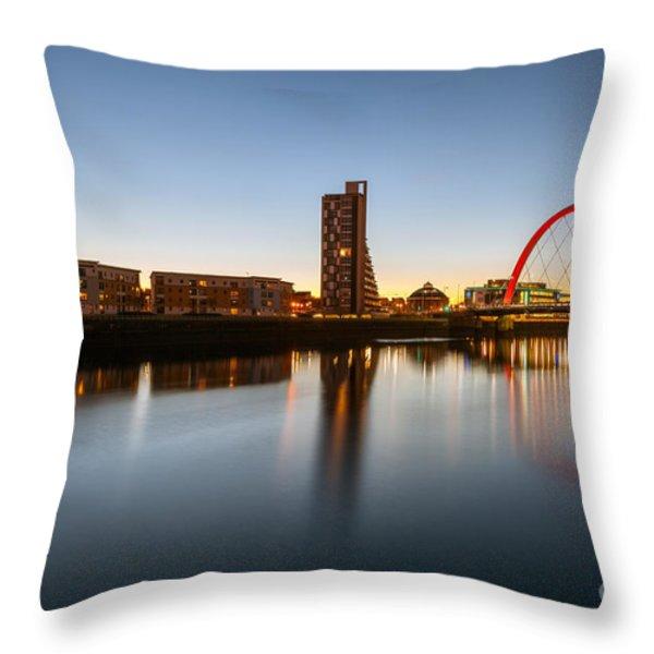 Glasgow Clyde Arc  Throw Pillow by John Farnan