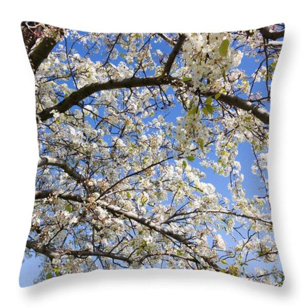 Glimpse Of Spring Throw Pillow by Heidi Smith