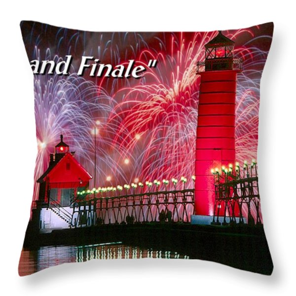 Grand Haven - Grande Finale Throw Pillow by Robert Lyndall
