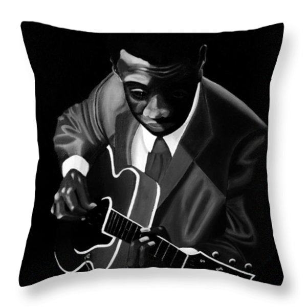 Grant Green Throw Pillow by Barbara McMahon