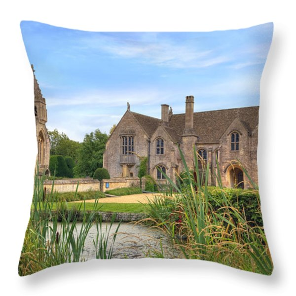 Great Chalfield Manor Throw Pillow by Joana Kruse