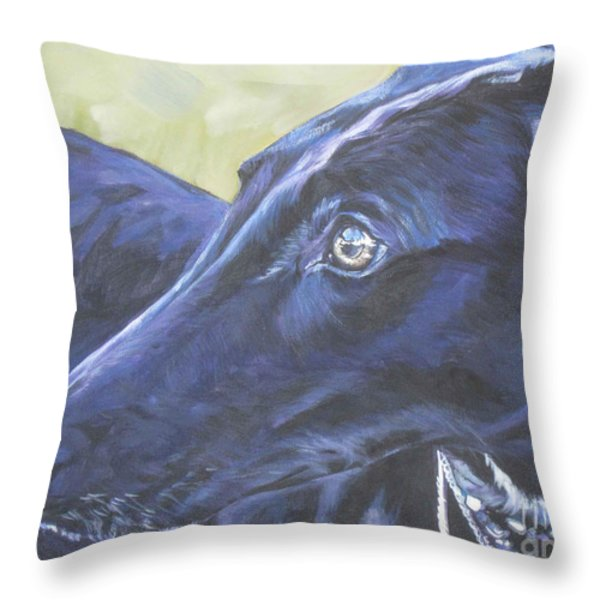 Greyhound Throw Pillow by Lee Ann Shepard