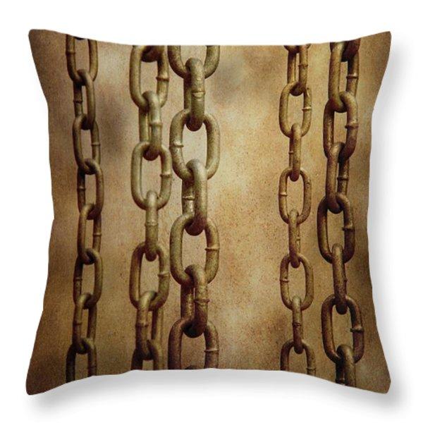 Hanged Chains Throw Pillow by Carlos Caetano
