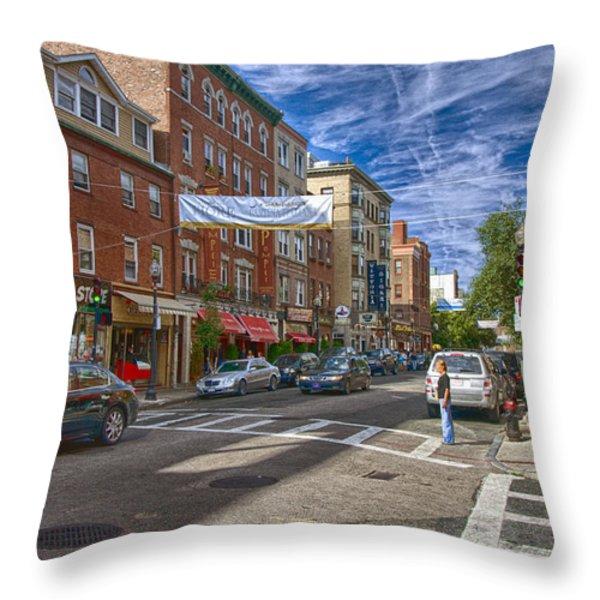 Hanover St. Throw Pillow by Joann Vitali