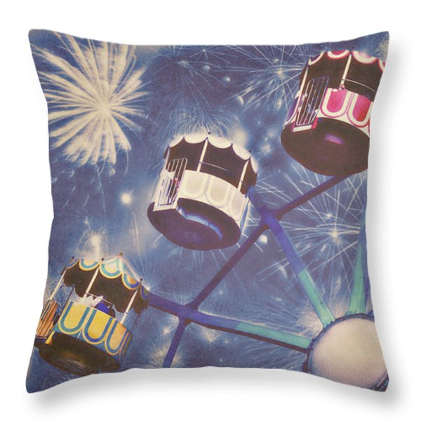 Happy New Year Throw Pillow by Angela Doelling AD DESIGN Photo and PhotoArt