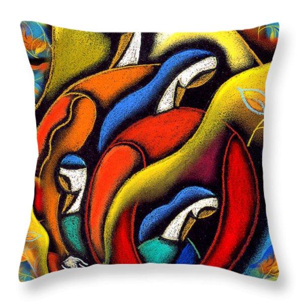 Harmony Throw Pillow by Leon Zernitsky