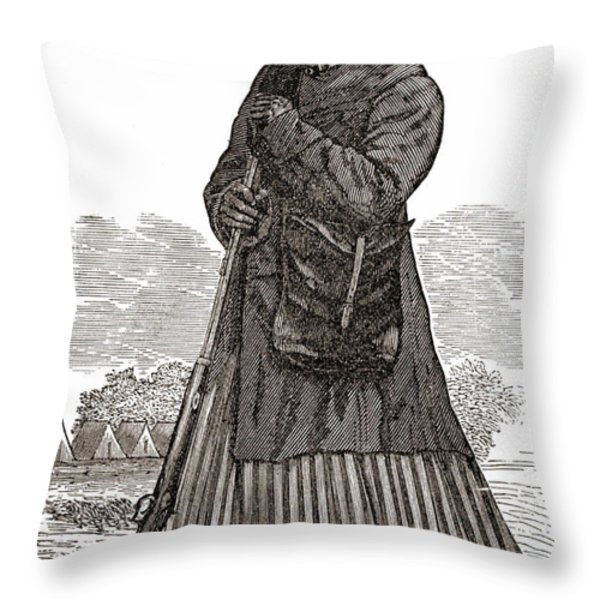 Harriet Tubman, American Abolitionist Throw Pillow by Photo Researchers