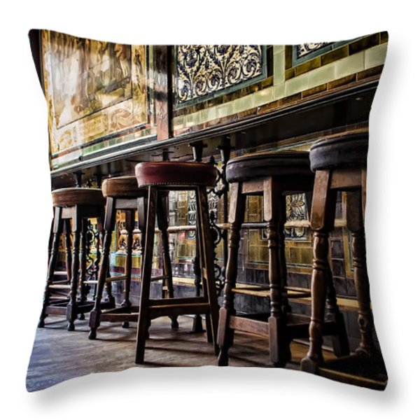 Have a Seat Throw Pillow by Heather Applegate