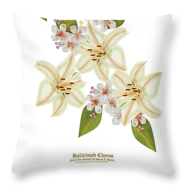 He Is Risen Throw Pillow by Anne Norskog