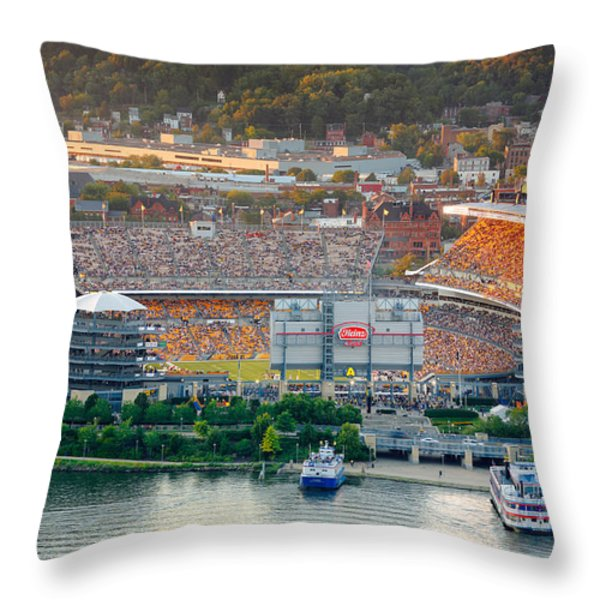 Heinz Field Throw Pillow by Emmanuel Panagiotakis