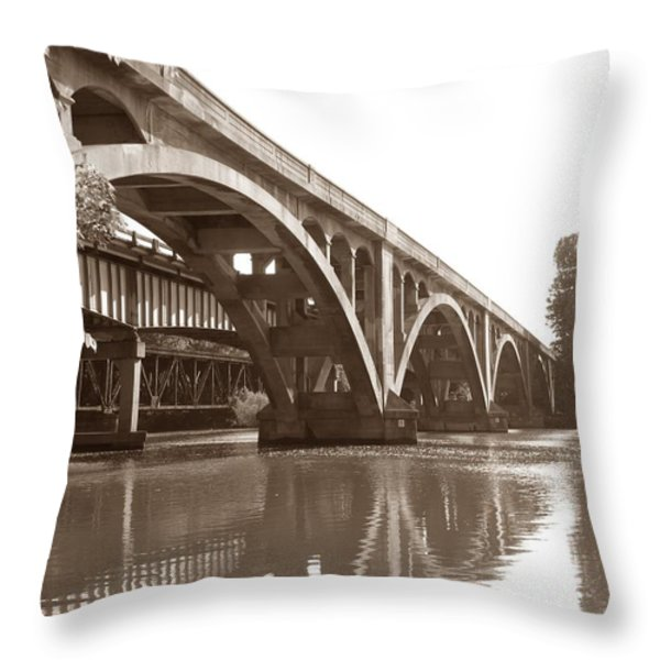 Historic Wil-cox Bridge Throw Pillow by Matt Taylor