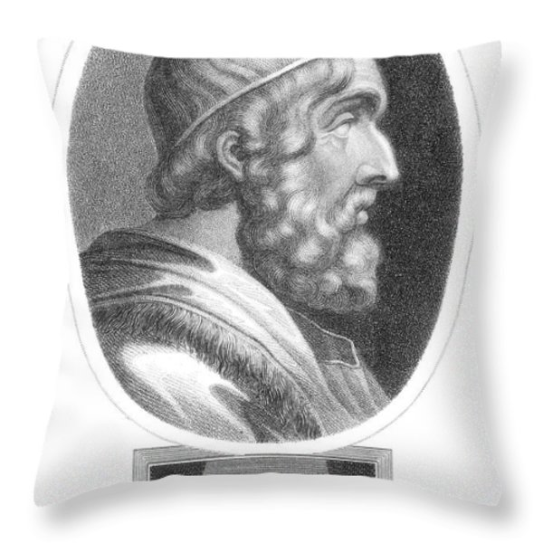 Homer, Ancient Greek Epic Poet Throw Pillow by Photo Researchers