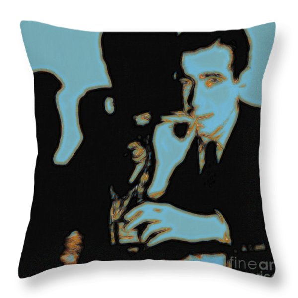 Humphrey Bogart And The Maltese Falcon 20130323m88 Square Throw Pillow by Wingsdomain Art and Photography