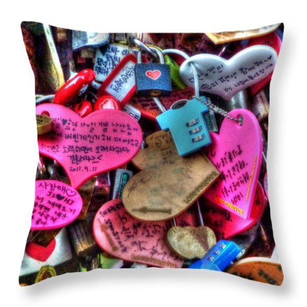 If You Love It Lock It  Throw Pillow by Michael Garyet