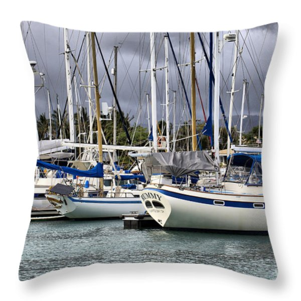 In the Harbor Throw Pillow by Cheryl Young