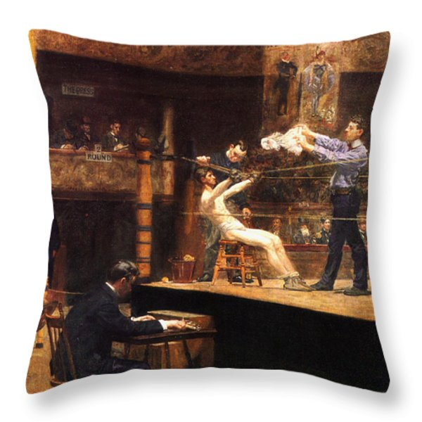 In The Mid Time Throw Pillow by Thomas Eakins
