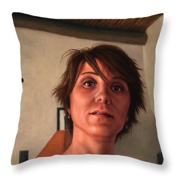 Indian Lodge Throw Pillow by James W Johnson