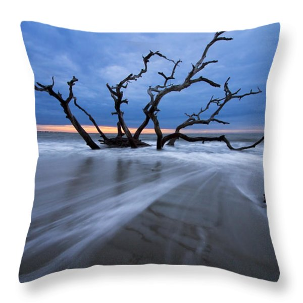 Into The Blue Throw Pillow by Debra and Dave Vanderlaan