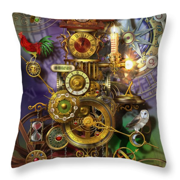 It's About Time Throw Pillow by Ciro Marchetti
