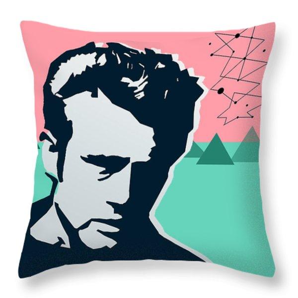 James Dean Throw Pillow by Mark Ashkenazi