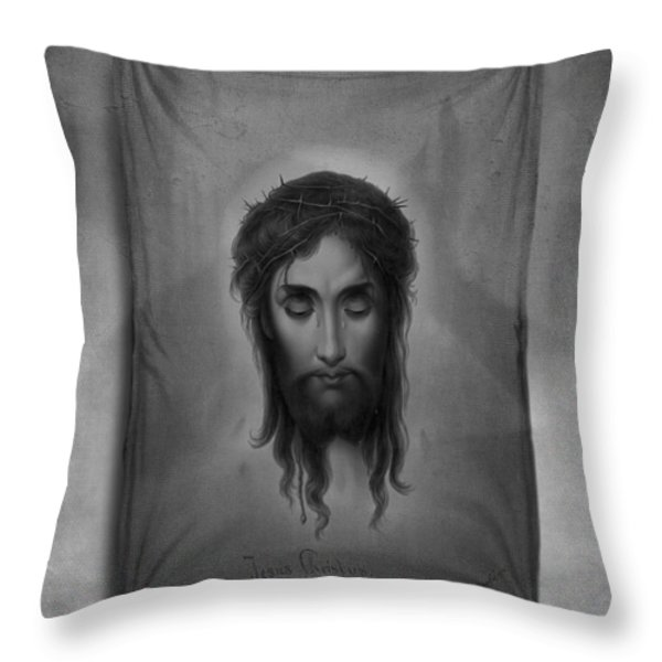 Jesus Christus Throw Pillow by Edward Fielding
