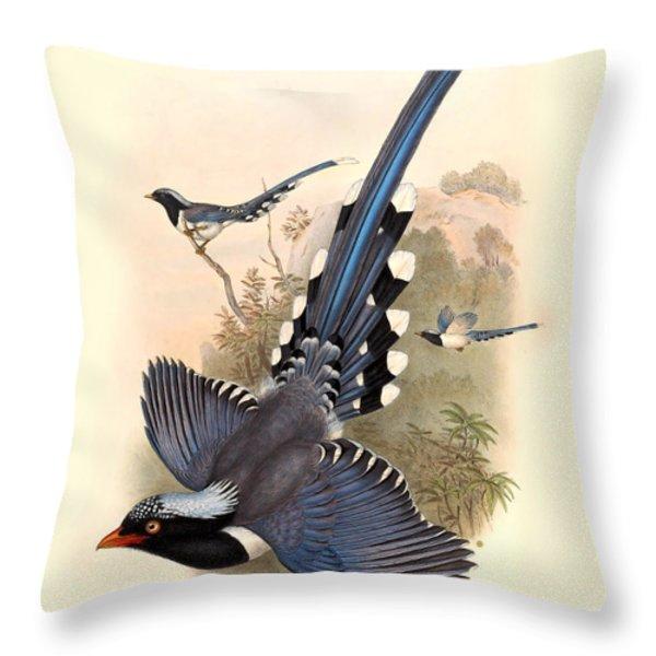John Gould Birds Throw Pillow by Gary Grayson