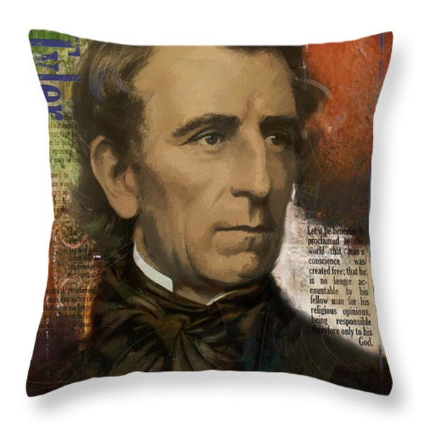 John Tyler Throw Pillow by Corporate Art Task Force