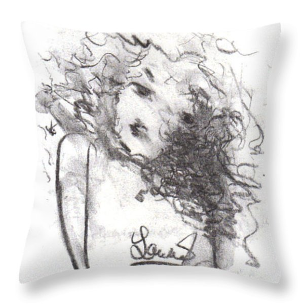 Just Me Throw Pillow by Laurie D Lundquist