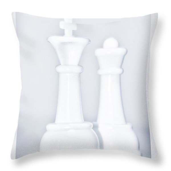 King And Queen Throw Pillow by Rob Hans