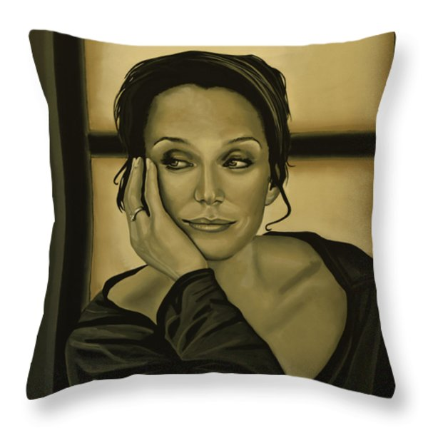 Kristin Scott Thomas Throw Pillow by Paul  Meijering