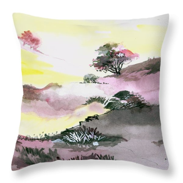 Landscape 1 Throw Pillow by Anil Nene